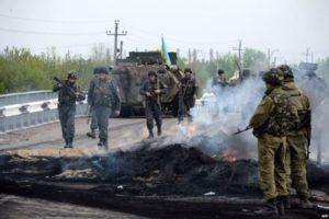 Українські війська знищили блокпост терористів біля Слов'янська