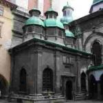 Ансамбль Успенської церкви у Львові: церква Успіння. 1591-1629; вежа Святителів. 1578