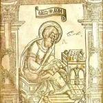 Євангеліст Лука. Гравюра з львівського «Апостола» 1574