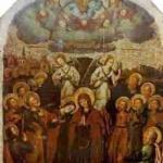 Ікона «Вознесіння Христове» з іконостасу церкви Воздвиження Чесного Хреста монастиря Скит Манявський. Й.Кондзелевич