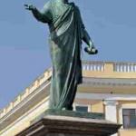 Пам'ятник градоначальнику та генерал-губернатору А. де Рішельє в Одесі. Скульптор І. Мартос. 1828