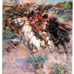 Картина «Бій Богуна з Чарнецьким під Монастирищем в 1653 р.» (1931). М. Самокиш.