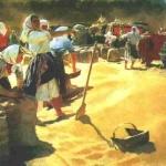 Картина «Хліб» (1949). Т. Яблонська.